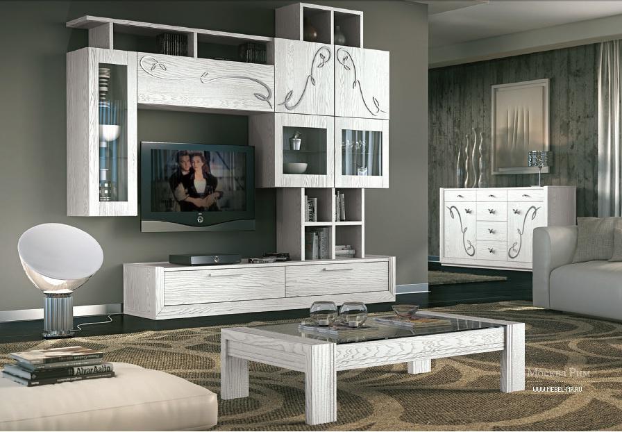Белые предметы мебели с узорами