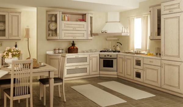Белые угловые кухни
