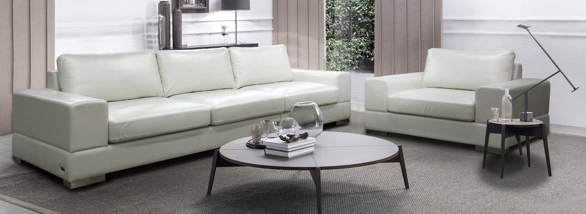 Белый комплект мягкой мебели