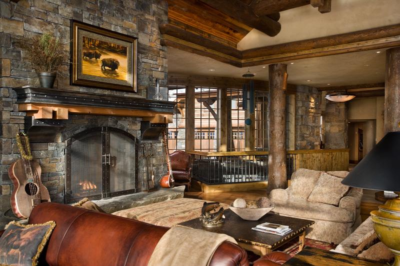 Богатый дизайн гостиной комнаты