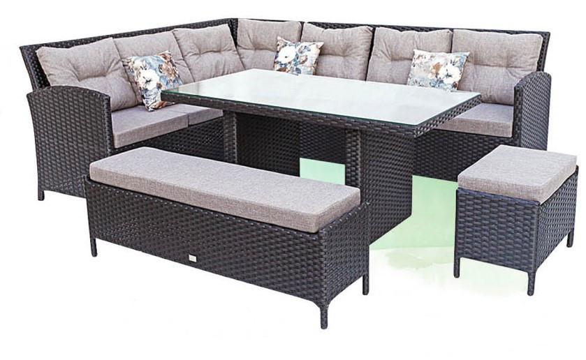 Большой комплект серой мебели