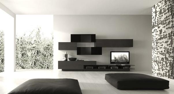 Черная стенка для комнаты