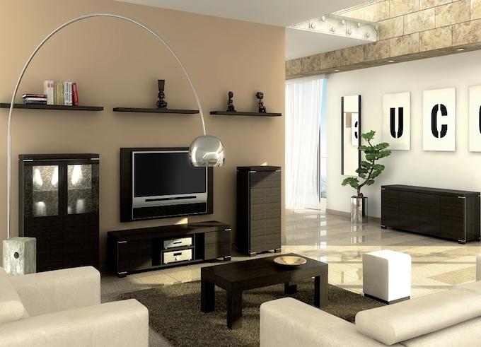 Черная удобная мебель