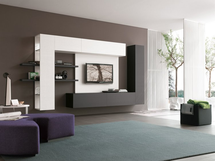 Черно-белое оформление современного дизайна