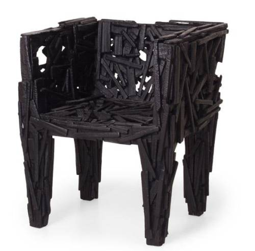 Черный небольшой стульчик