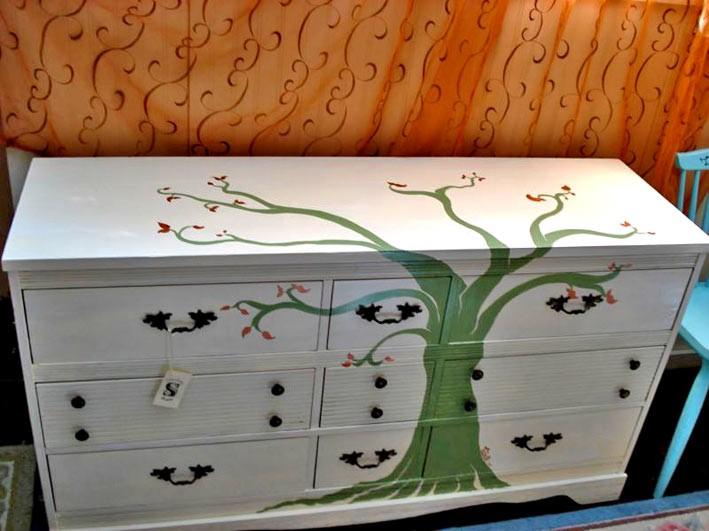 Декорирование - трафареты для мебели своими руками