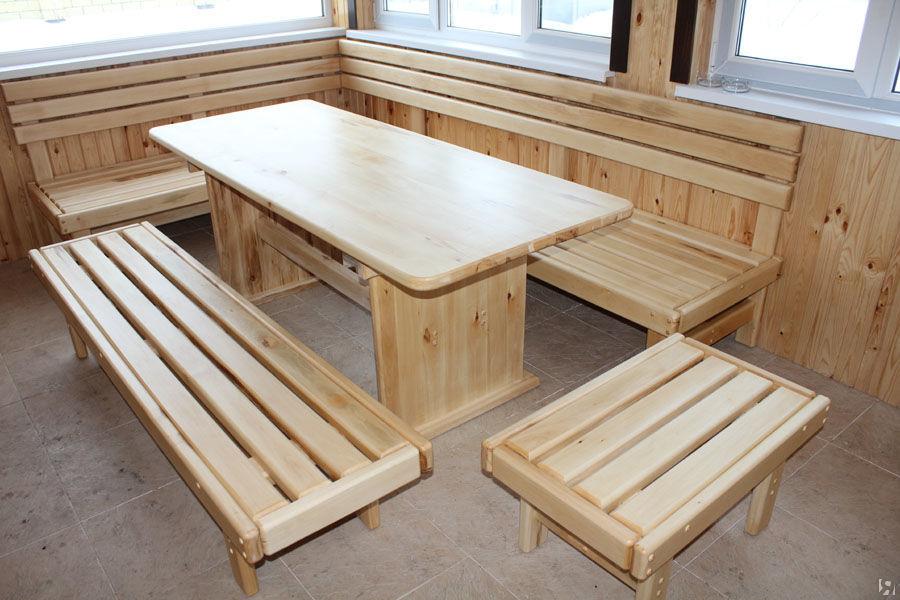 Деревянные столы и скамейки из лиственницы для дома и сада