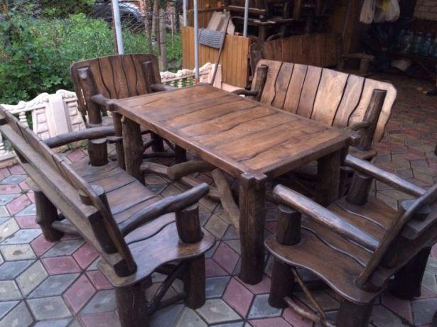 Деревянные стул и стол созданные своими руками