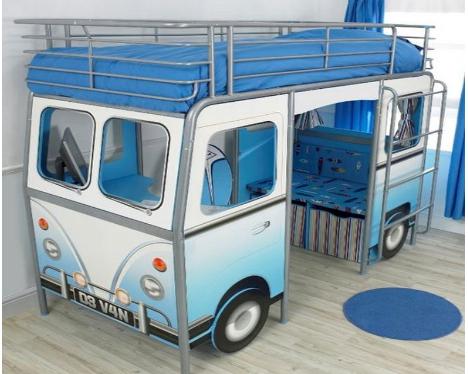Детская кровать фургон