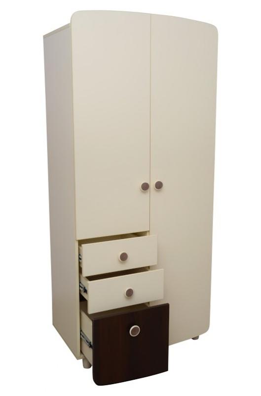 Детский шкаф белого цвета