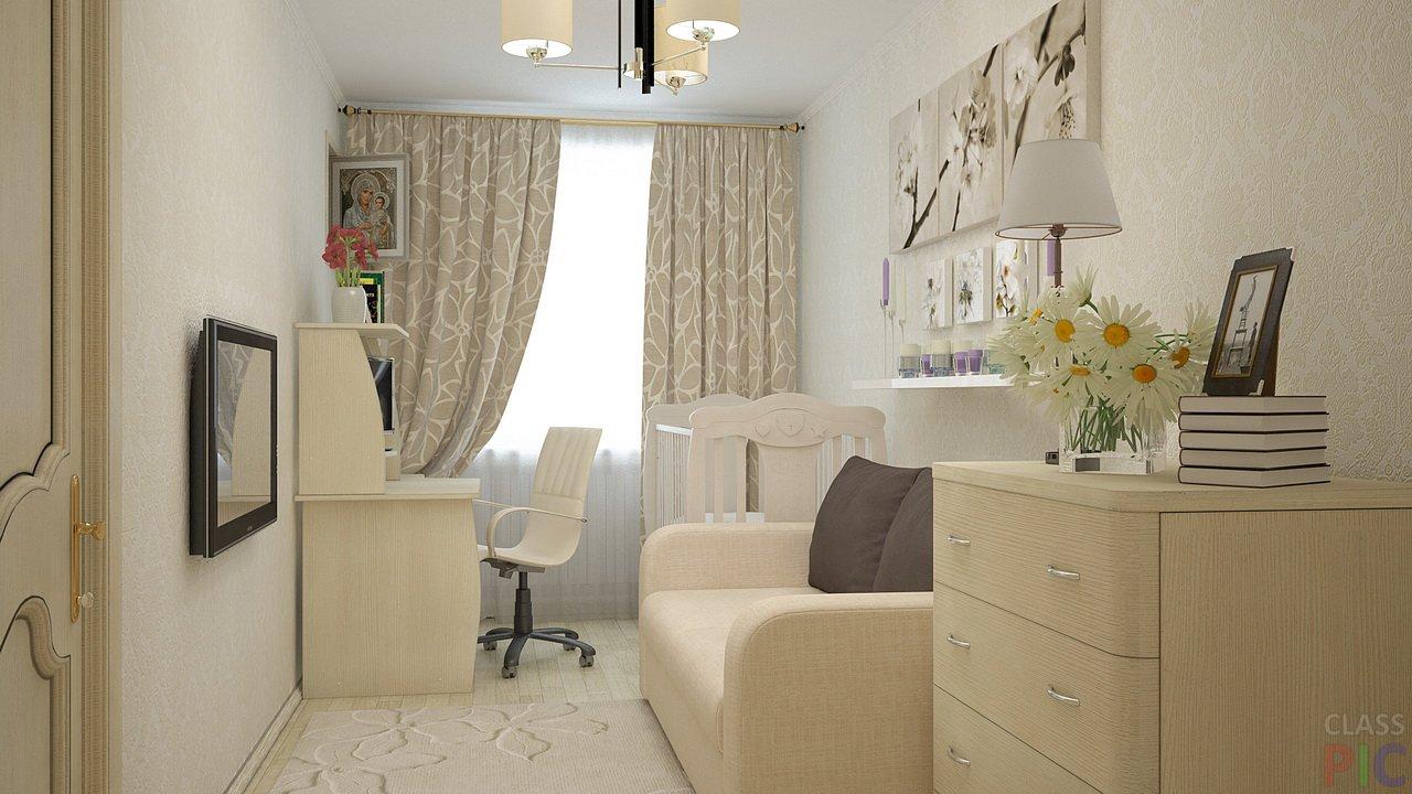 Дизайн маленькой детской комнаты в светлых тонах