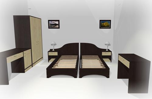 Две кровати черного цвета