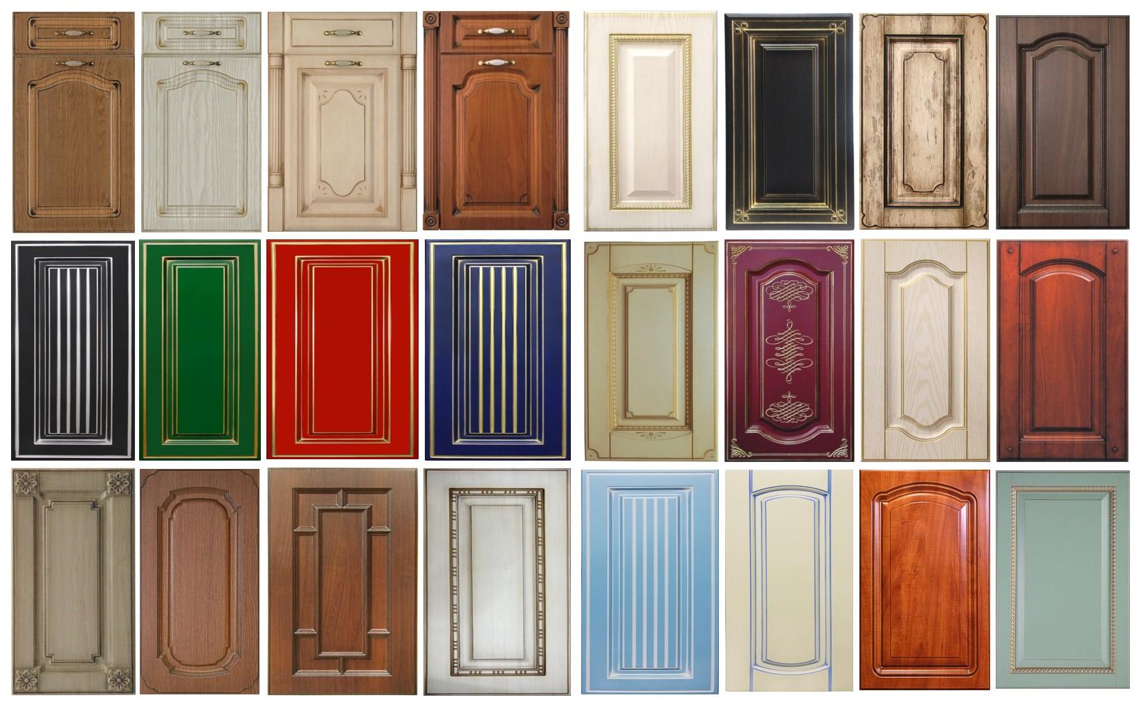 Фасады для кухни разных цветов
