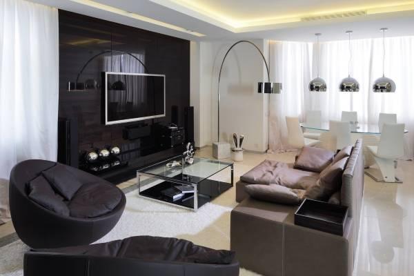 Фукнциональный современный дизайн комнаты