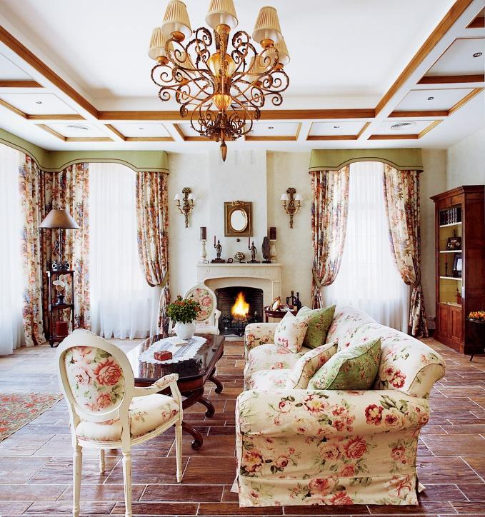 Гостиная в французском стиле
