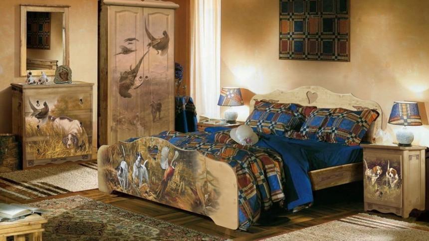 Художественная роспись спальной мебели