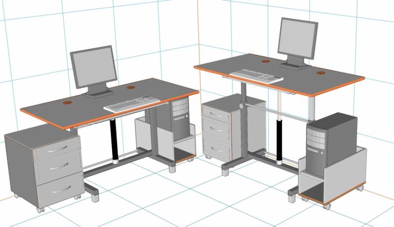 Идеальный стол для работы за компьютером