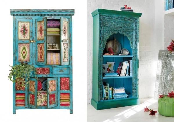 Индийская мебель с ручной росписью