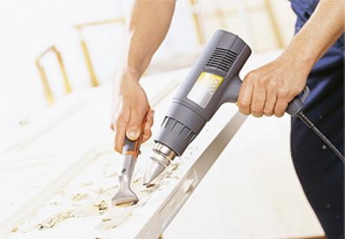 Использование строительного фена