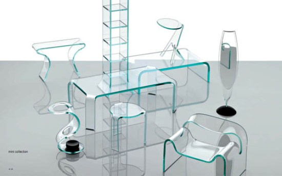 Итальянская мебель из стекла