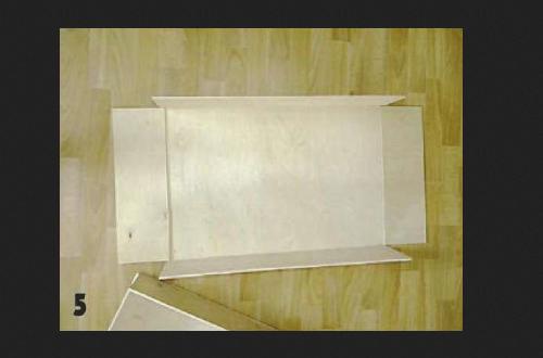 Изготовляем ящик и скрепляем его саморезами
