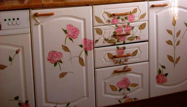 Как покрасить в стиле прованс покрытия шкафчиков
