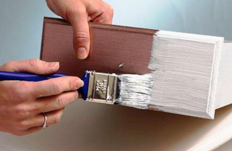 Как покрасить ящики и полки