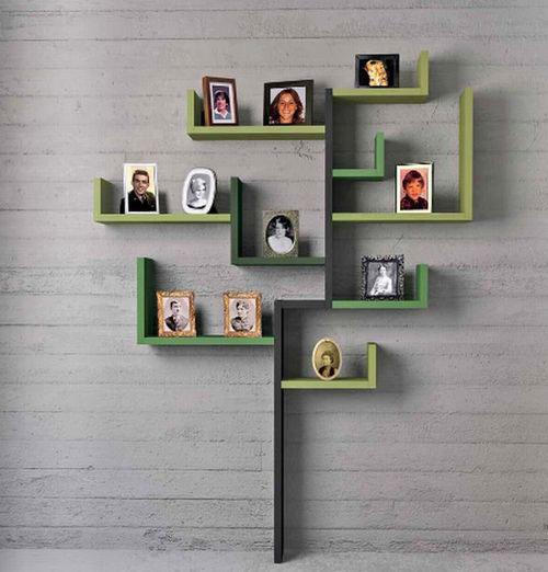 Как сделать полку для фотографий на стену
