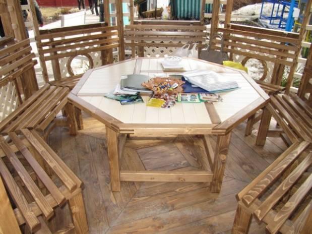Как выбрать мебель для беседки