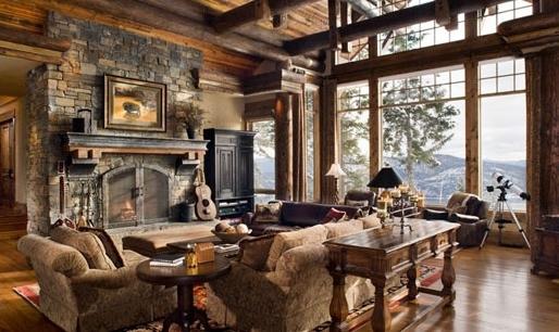 Комната с большим окном и красивым интерьером