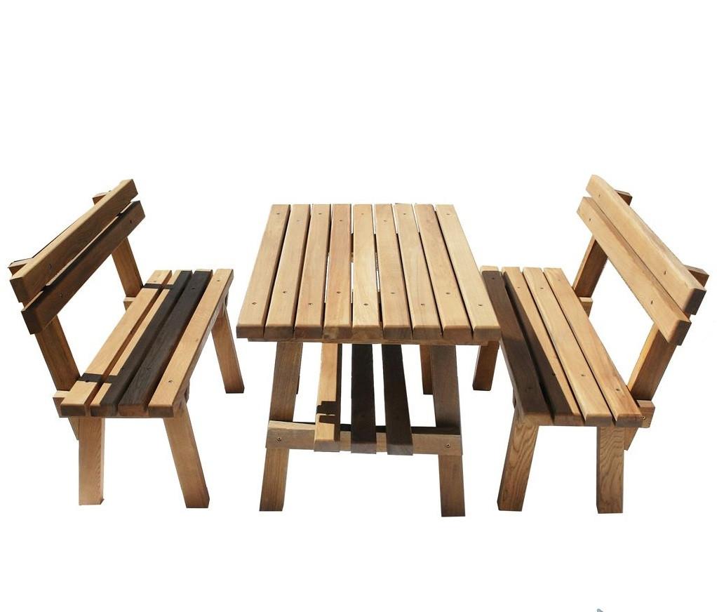 Комплект мебели для беседки из массива дуба