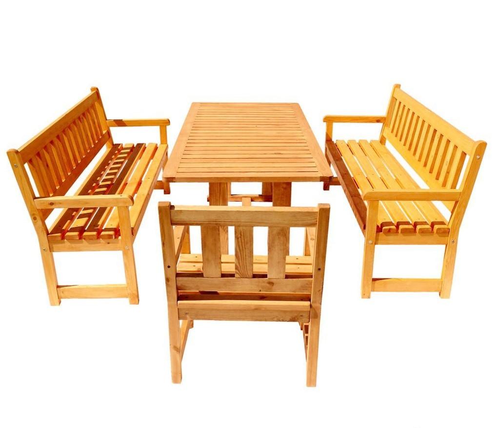 Комплект мебели для беседки из массива сосны