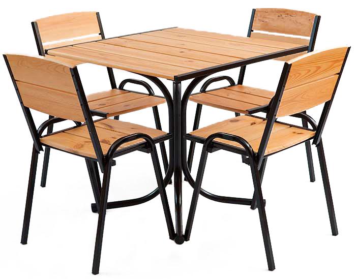 Комплект мебели на металлокаркасе для улицы