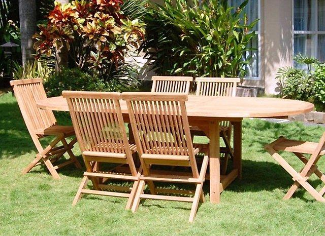 Комплекты садовой мебели из массива твердого дерева