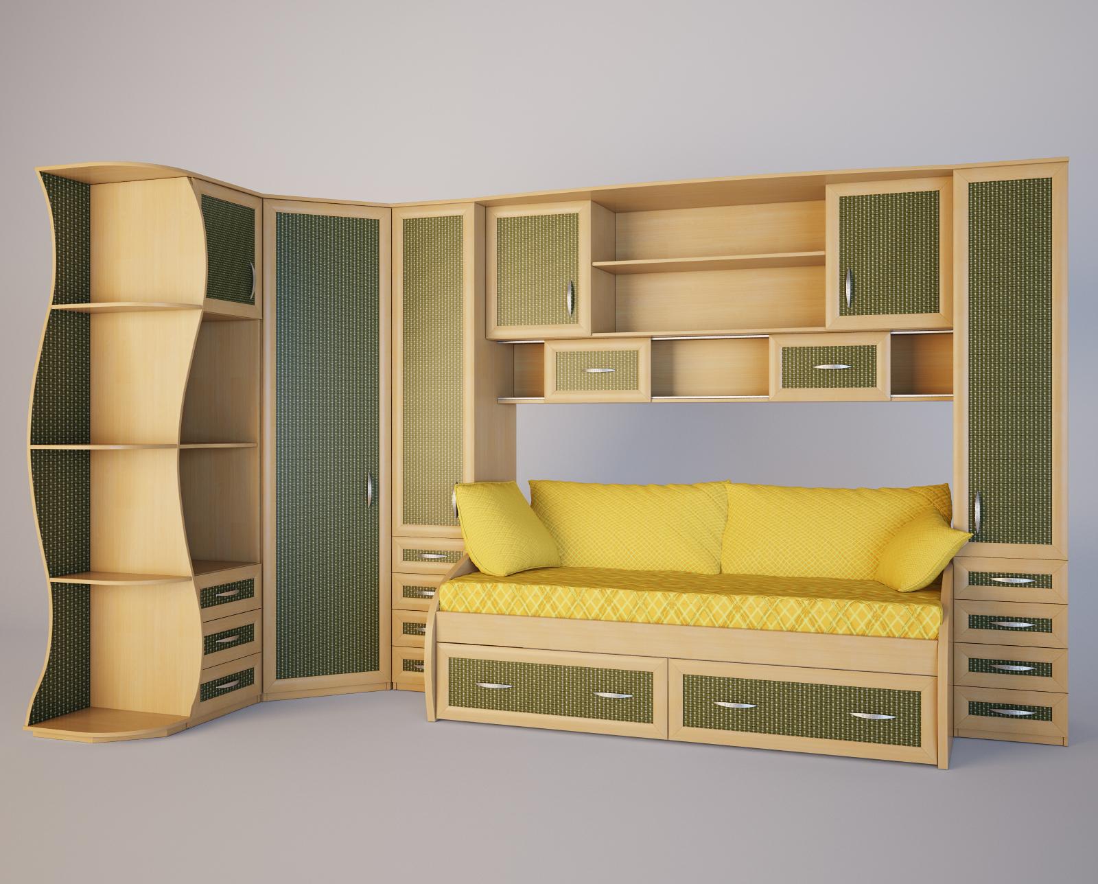 Корпусная мебель с диваном