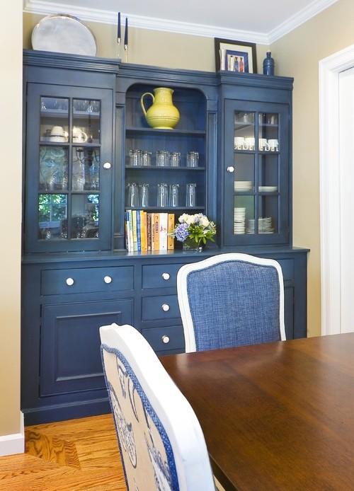 Корпусная мебель синего цвета