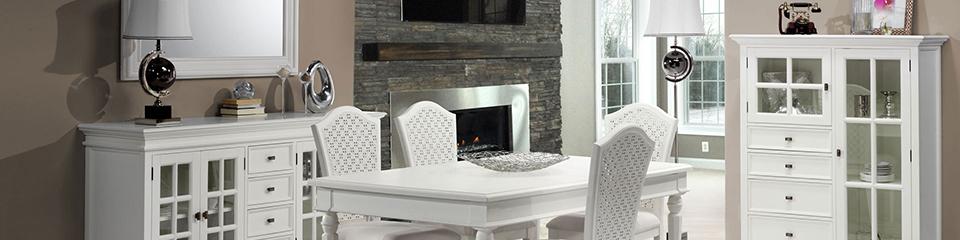 Корпусная мебель в столовую белого цвета