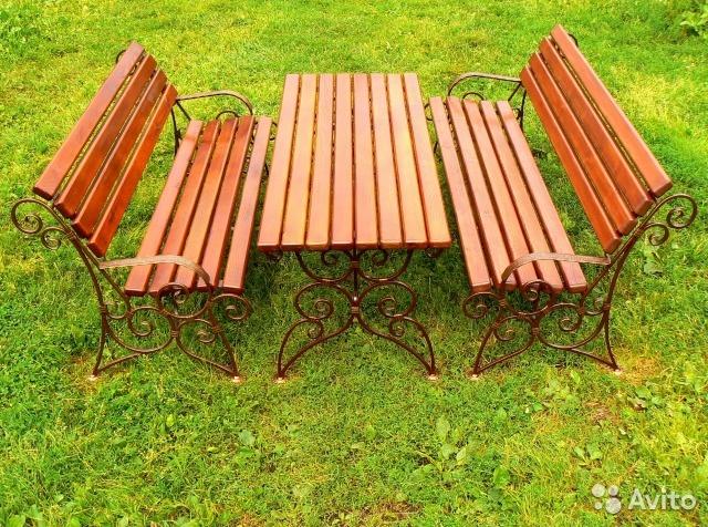 Кованая мебель из лиственницы