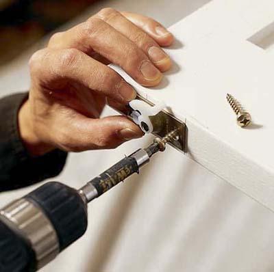Крепление мебельного магнита