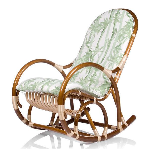 Кресло-качалка Верба бамбук зеленый
