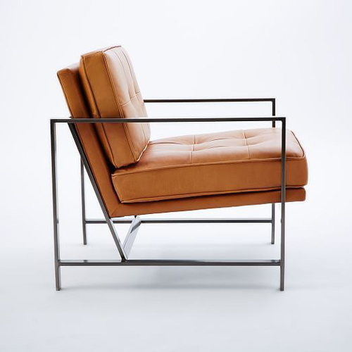 Кресло на основе металлокаркаса