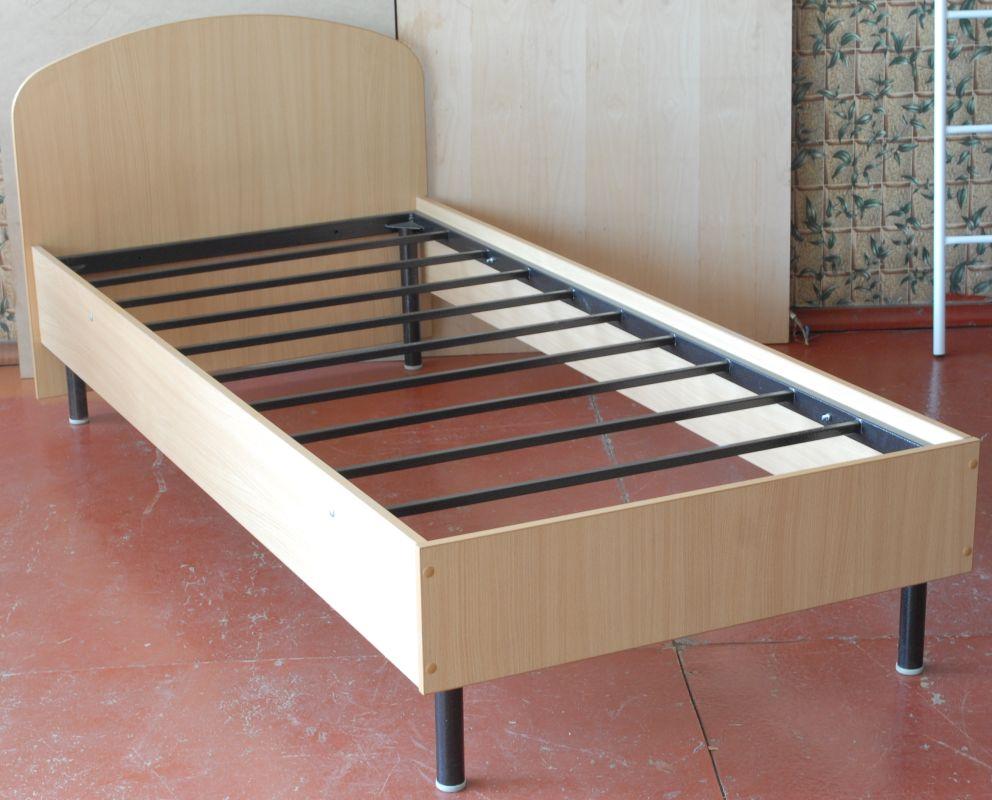 Кровать ЛДСП на металлокаркасе для одного человека
