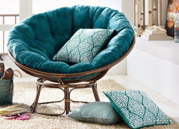 Круглое кресло плетеное