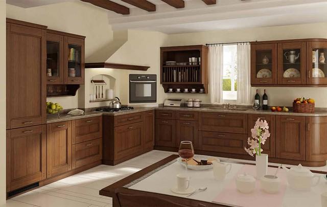 Кухни из дерева массив бука