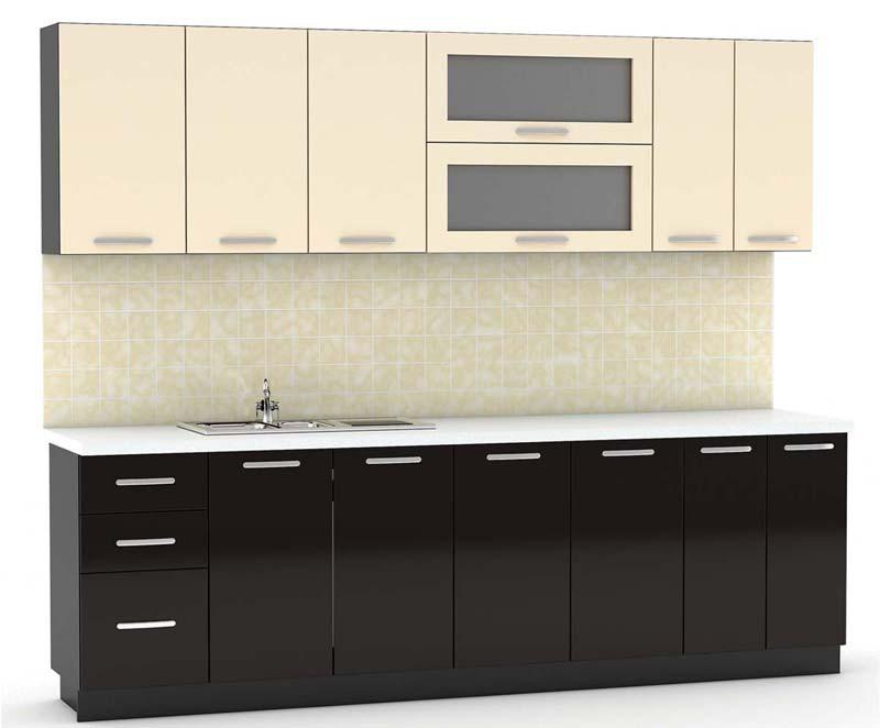 Кухня с высококачественными фасадами