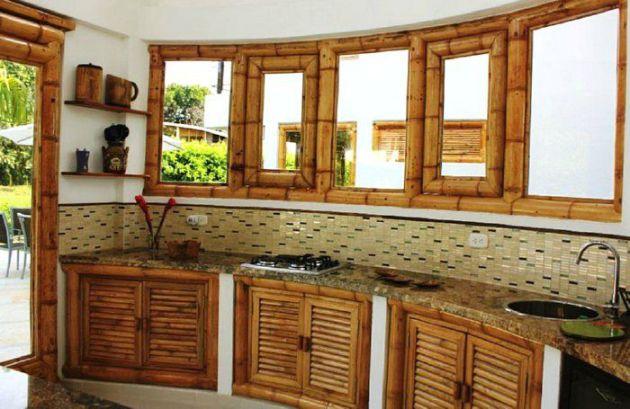 Кухонная мебель из бамбука