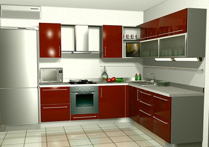 Ламинированная кухня