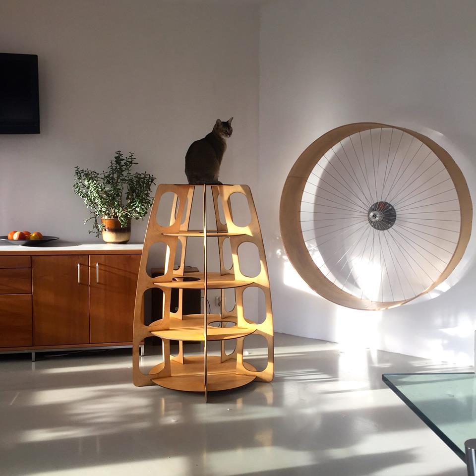 Мебель для кошек домик с когтеточкой