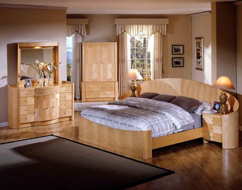 Мебель для спальни на основе натуральных материалов