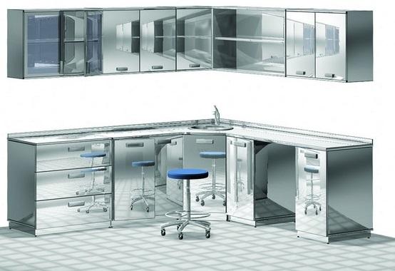 Мебель медицинская из нержавеющей стали